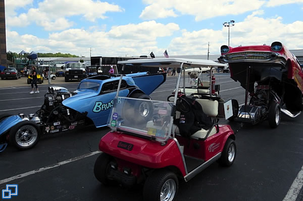 Waiting in staging lanes for 1st round of Eliminations